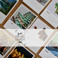 A year in Instagrams - Free printable calendar 2017