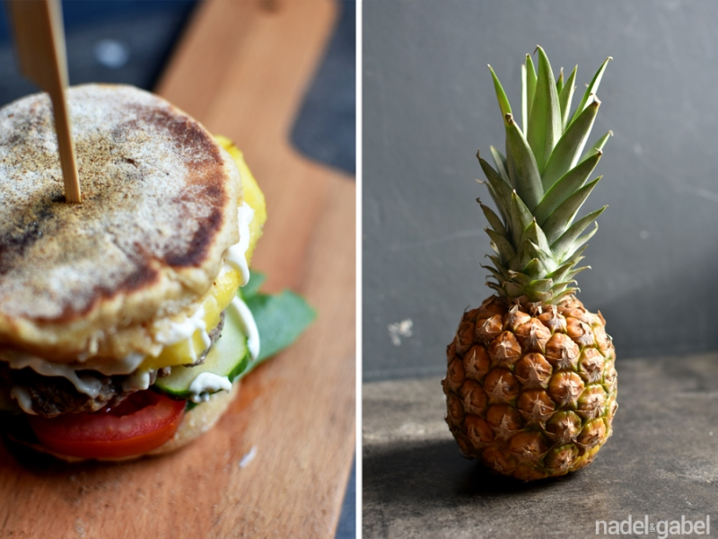 Azorean burger with pineapple