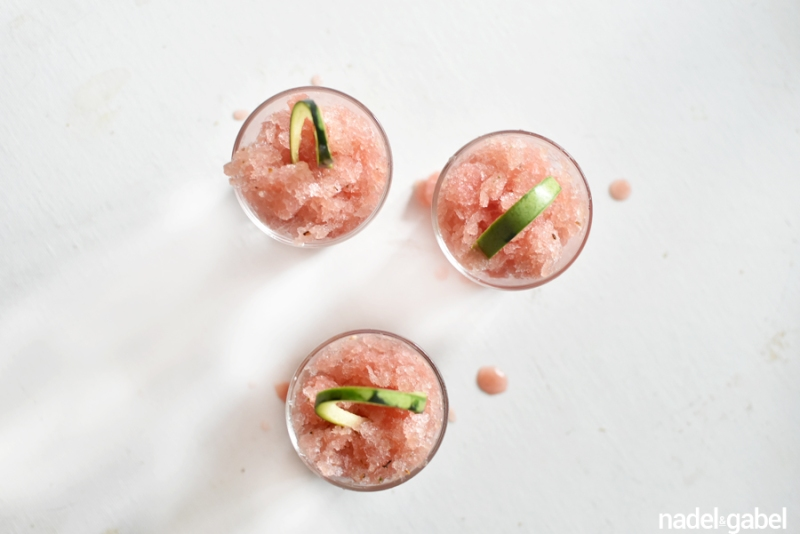 Wassermelone Gurke Granita