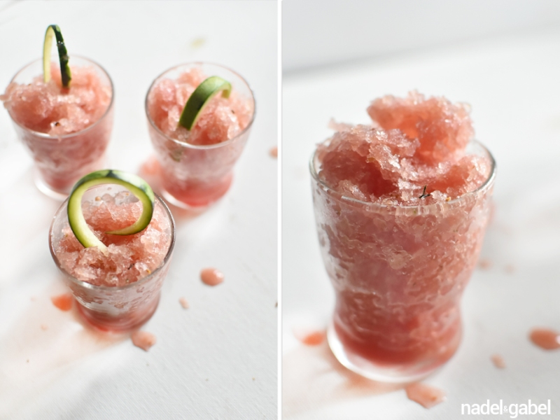 watermelon cucumber granita