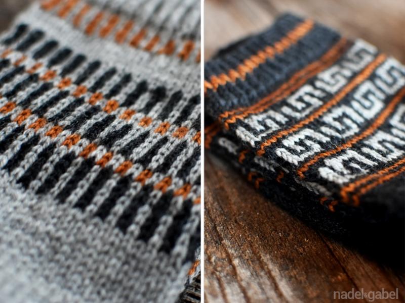 colorwork knit geometric