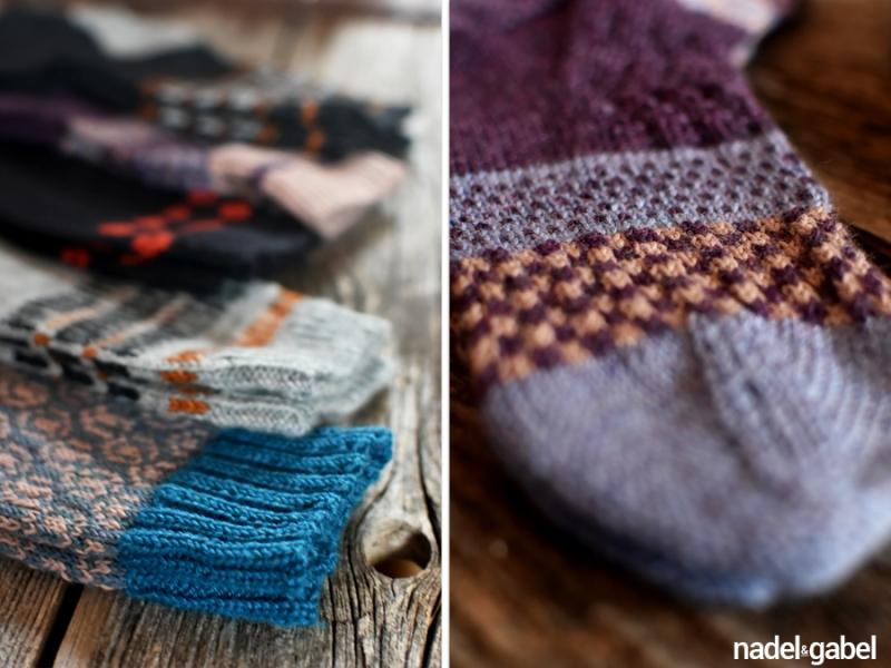 knit socks colorwork