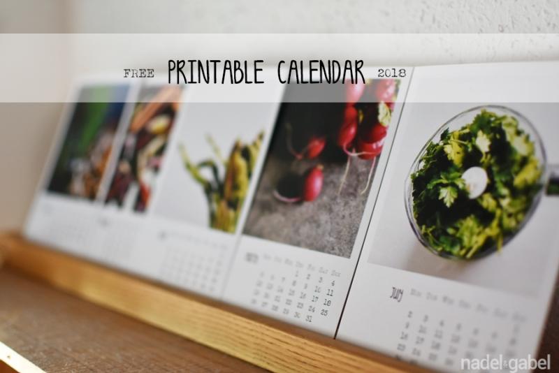 free printable calendar 2018 - nadel&gabel