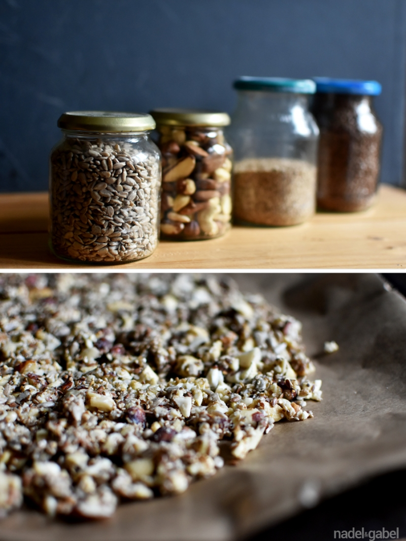 toasted nuts and seeds